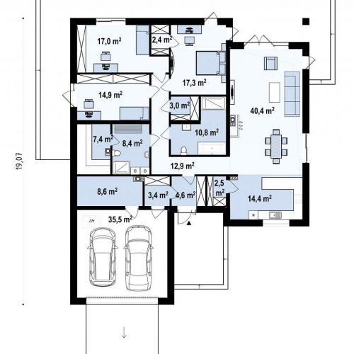 План первого этажа проекта Z199 v1