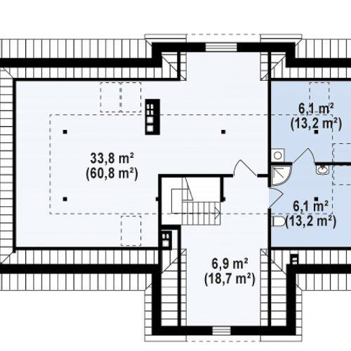 План второго этажа проекта Z2 + w p