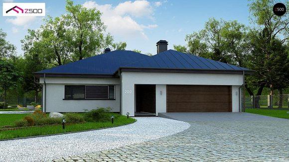 Фото проекта дома Z200 L + 100 вид с улицы