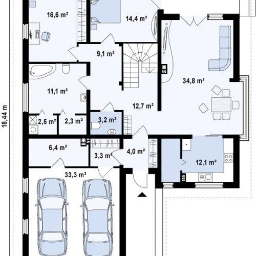 План первого этажа проекта Z200 P