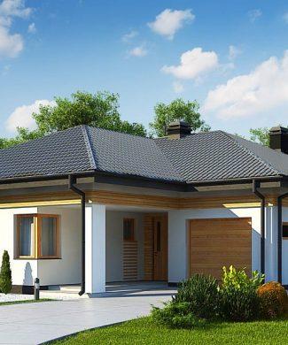 Фото проекта дома Z204 GP вид с улицы