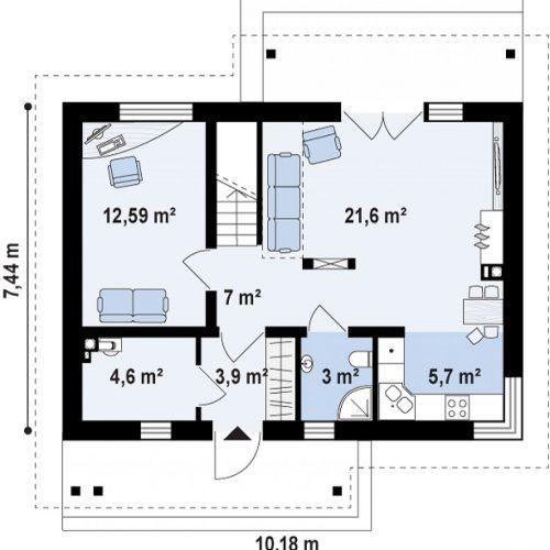 План первого этажа проекта Z210
