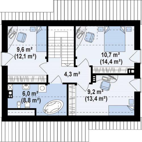 План второго этажа проекта Z210