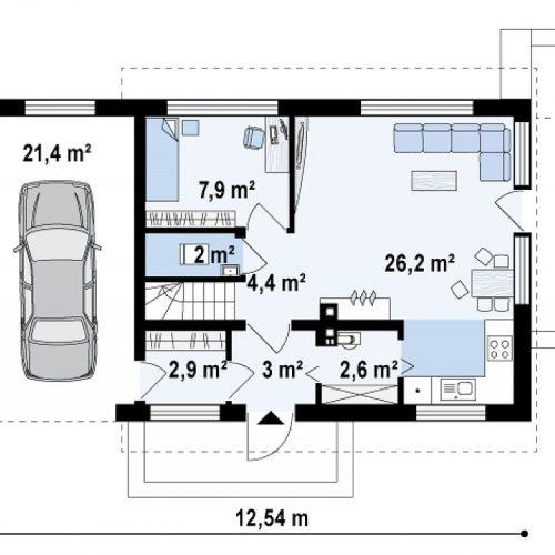 План первого этажа проекта Z211 GL