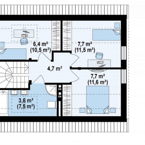 План второго этажа проекта Z211 S