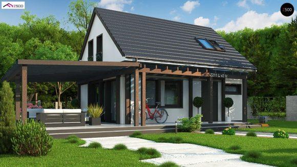 Фото проекта дома Z211 v2 tz вид с улицы