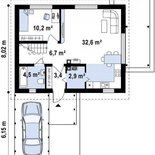План первого этажа проекта Z213