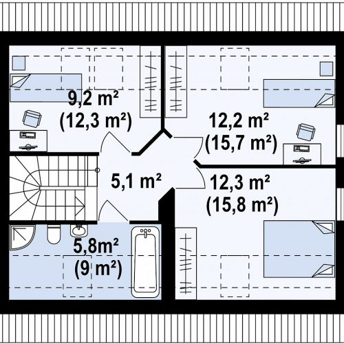 План второго этажа проекта Z213