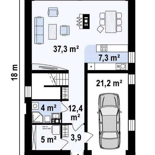 План первого этажа проекта Z215 A