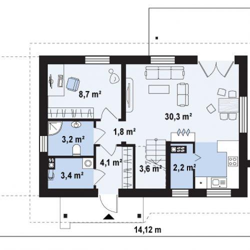 План первого этажа проекта Z216 +
