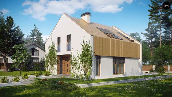 Фото проекта дома Z218 вид с улицы