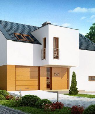 Фото проекта дома Z222 вид с улицы