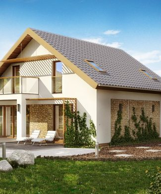 Проекты домов и коттеджей 10 на 10 | Каталог Проекты коттеджей | 390x325