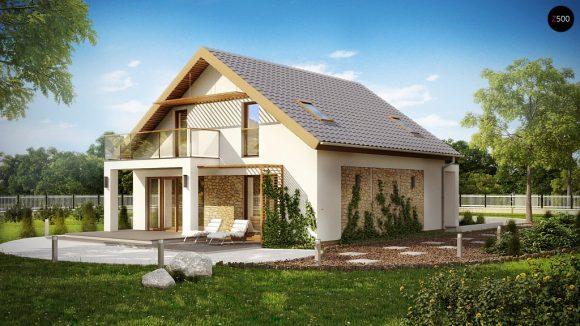Фото проекта дома Z224 вид с улицы