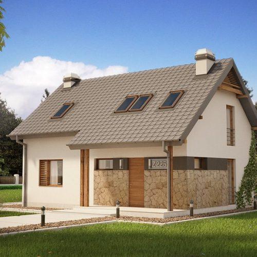 Фото проекта дома Z225 вид с улицы