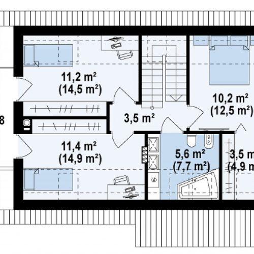 План второго этажа проекта Z225 k