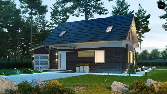 Фото проекта дома Z227 вид с улицы