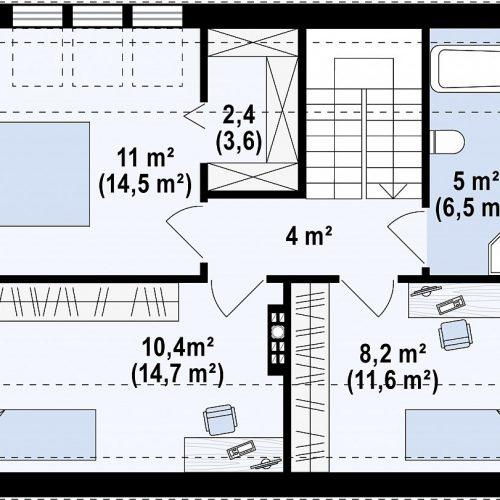 План второго этажа проекта Z229