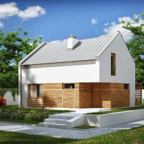 Фото проекта дома Z229 вид с улицы