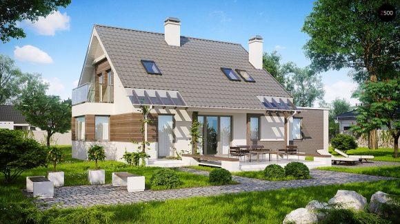 Фото проекта дома Z231 вид с улицы
