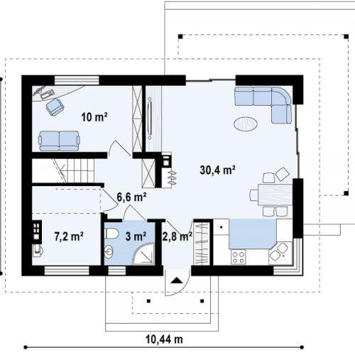 План первого этажа проекта Z233