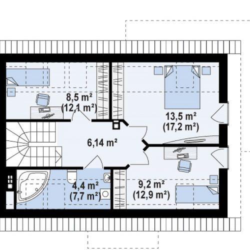 План второго этажа проекта Z233