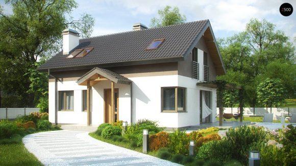 Фото проекта дома Z233 вид с улицы