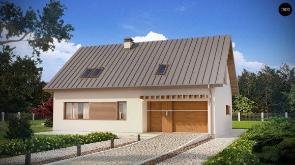 Фото проекта дома Z240 вид с улицы