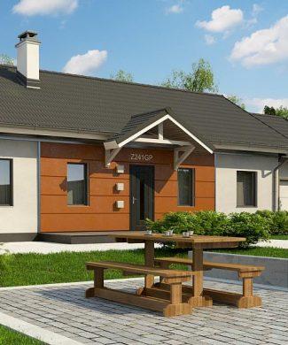 Фото проекта дома Z241 GP HB вид с улицы