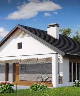 Фото проекта дома Z242 вид с улицы