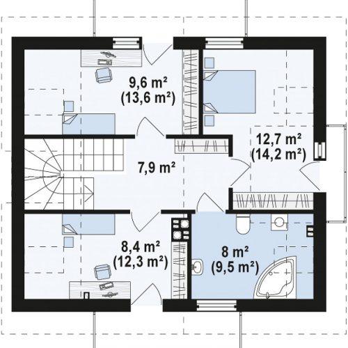 План второго этажа проекта Z245