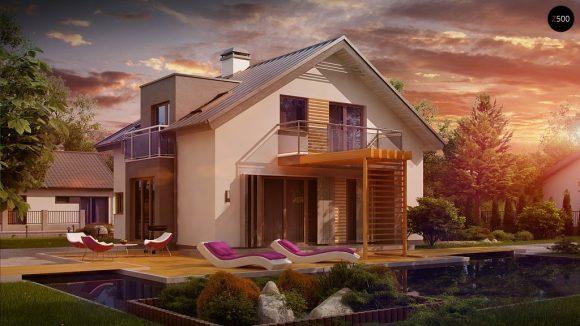 Фото проекта дома Z245 вид с улицы