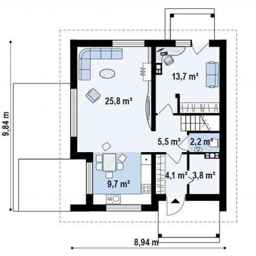 План первого этажа проекта Z248