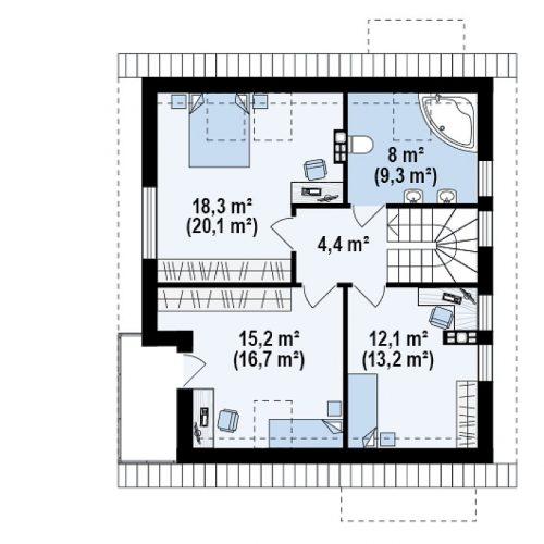План второго этажа проекта Z248