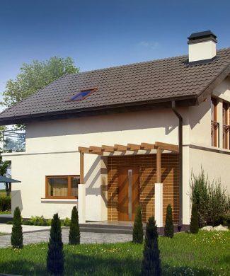 Фото проекта дома Z248 вид с улицы