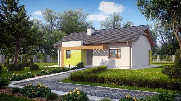 Фото проекта дома Z249 вид с улицы