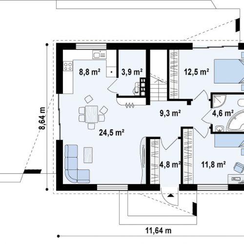 План первого этажа проекта Z255