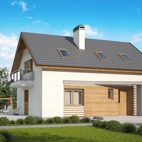 Фото проекта дома Z255 B pc вид с улицы