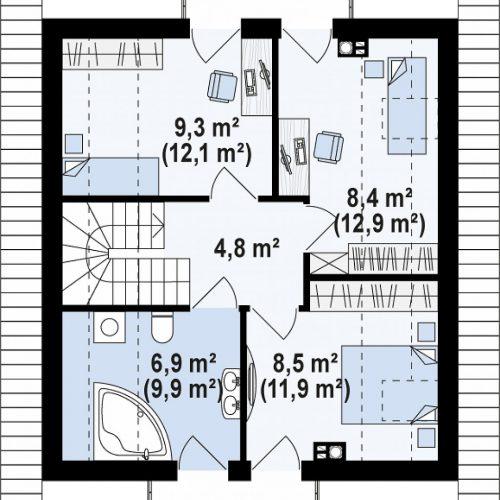 План второго этажа проекта Z265