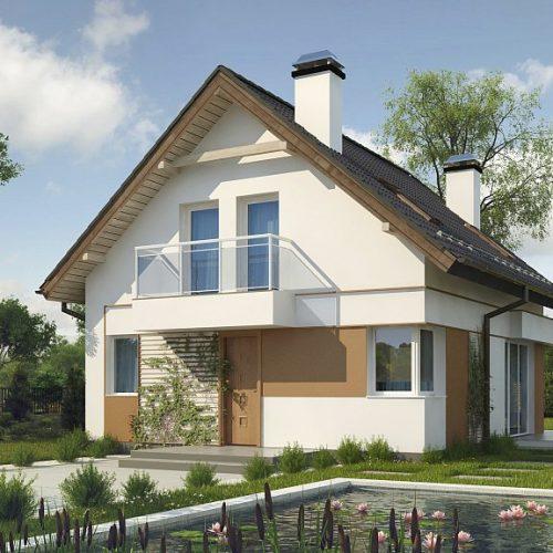 Фото проекта дома Z265 вид с улицы