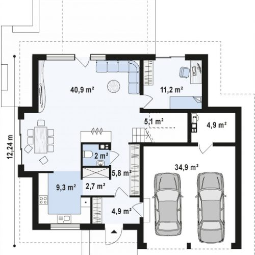 План первого этажа проекта Z270 A