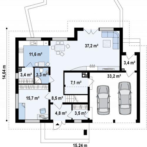 План первого этажа проекта Z272