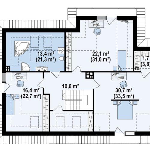 План второго этажа проекта Z272
