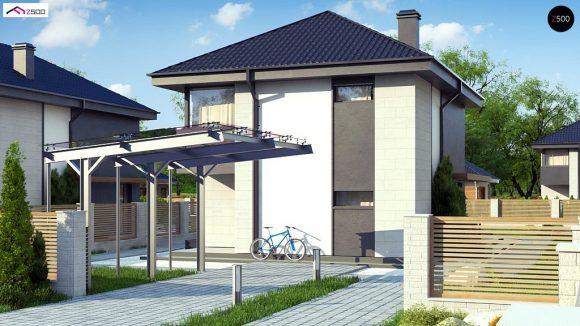 Фото проекта дома Z276 вид с улицы