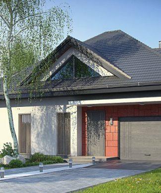 Фото проекта дома Z278 вид с улицы