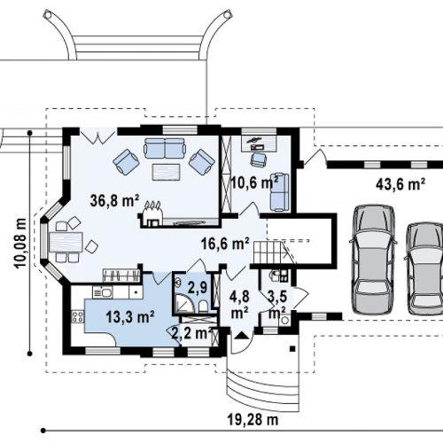 План первого этажа проекта Z28 L GP2