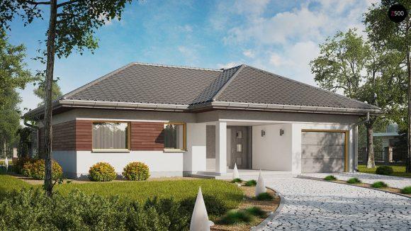 Фото проекта дома Z280 вид с улицы