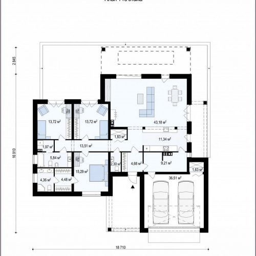 План первого этажа проекта Z282