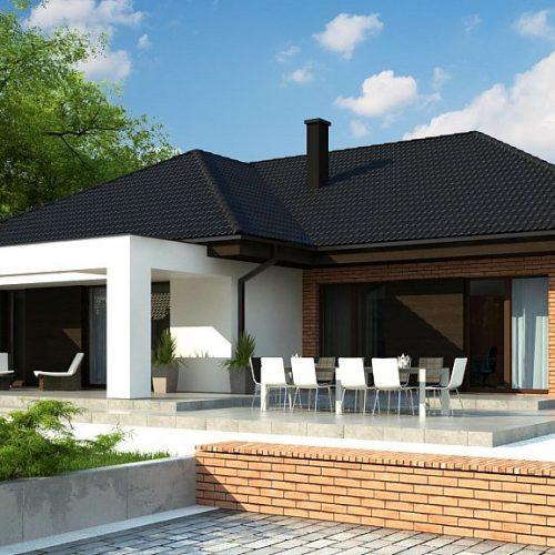 Фото проекта дома Z282 вид с улицы