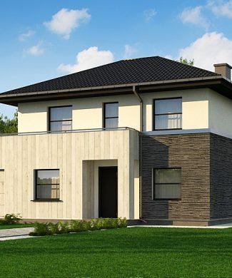 Фото проекта дома Z29 minus вид с улицы